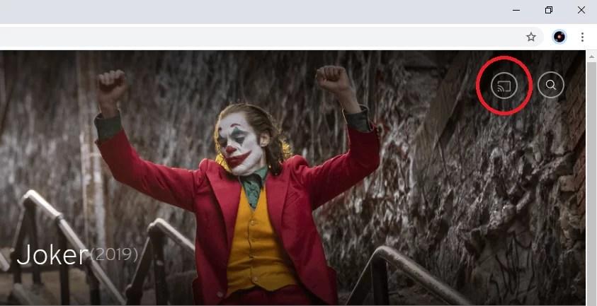 click on cast icon