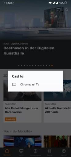 Chromecast ZDF