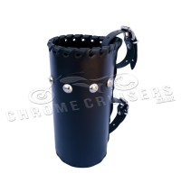 Motorcycle leather drink holder - large (N4B) - Chrome ...