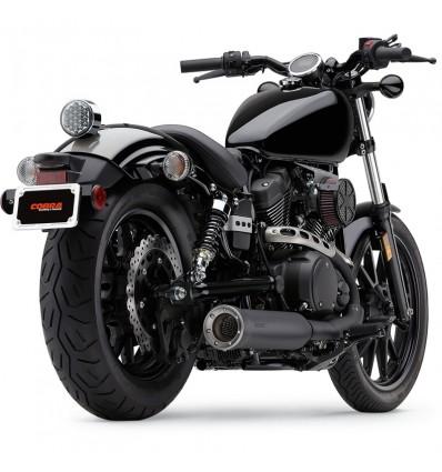 yamaha xv950 r bolt racer cobra slip on muffler exhaust black yamaha
