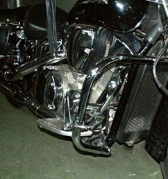 honda vtx 1300 retro custom r c s t 2003 2009 heavy duty chrome engine crash bar guard  [ 1000 x 1000 Pixel ]