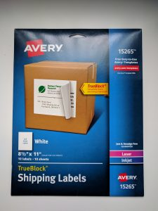 Avery 15265 Full Page Shipping Labels to print Timeline Figures