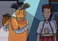 Tim and Moby in the George Washington Video