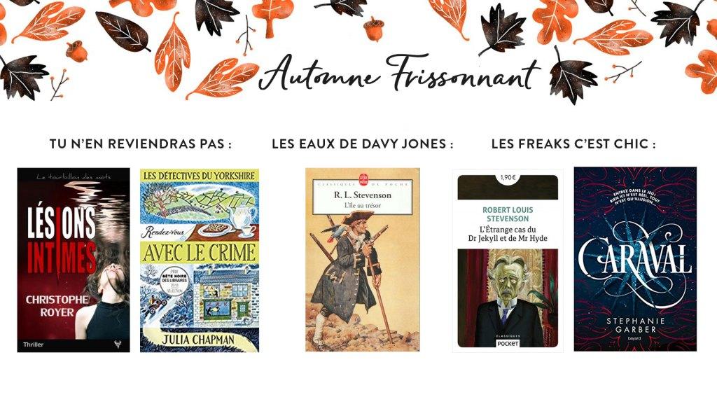 Pumpkin Autumn Challenge 2019 : Ma Pile à Lire - Automne Frissonnant