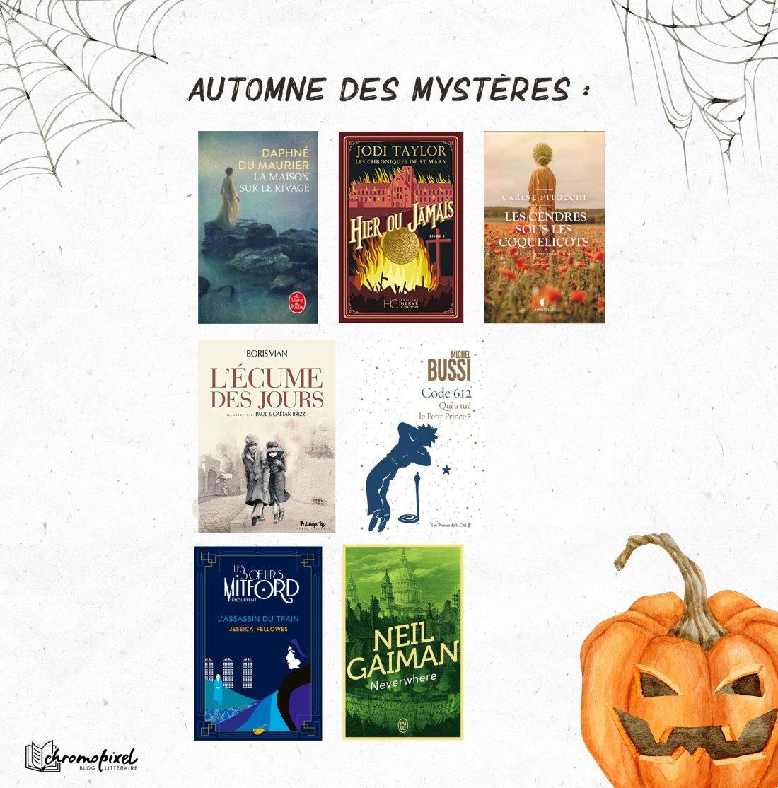 Pumpkin Autumn Challenge 2021 : Ma Pile à Lire - Automne des Mystères :