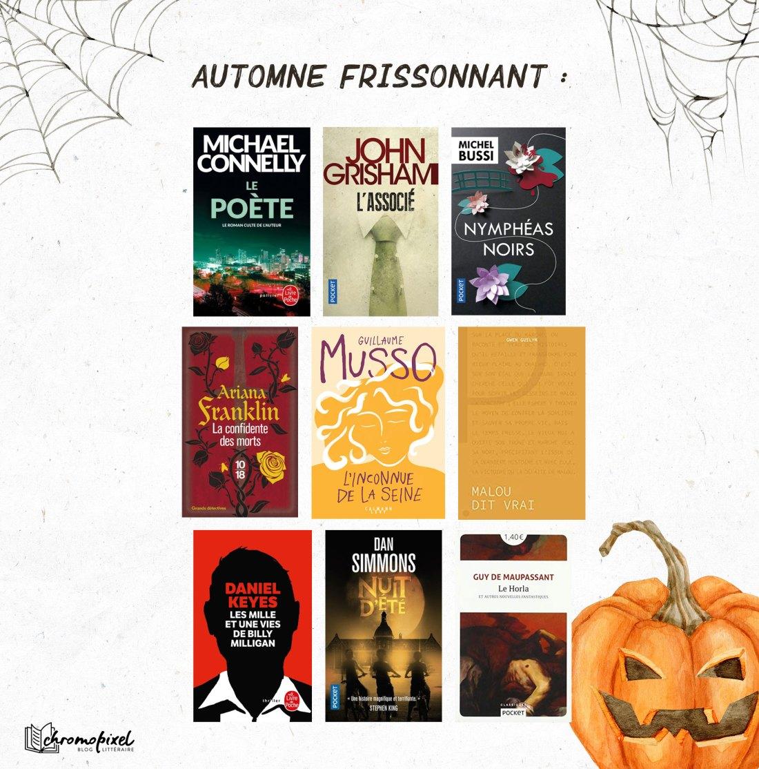 Pumpkin Autumn Challenge 2021 : Ma Pile à Lire - Automne frissonnant :
