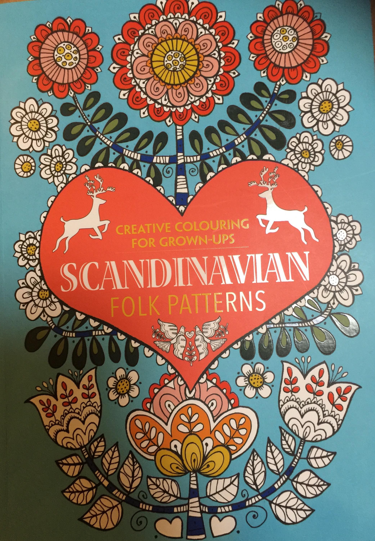 Creative Colouring For Grown Ups Scandinavian Folk