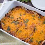 Tasty Vegan Enchilada Casserole - Gluten Free & Dairy Free - Chronically Gluten Free