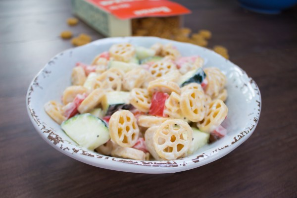 creamy vegan pasta salad - gluten free and dairy free - chronically gluten free