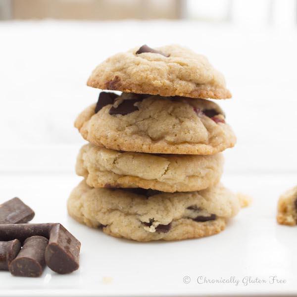 Cherry Chocolate Chunk Cookies - Vegan, Gluten Free, Dairy Free & Soy Free - chronically gluten free