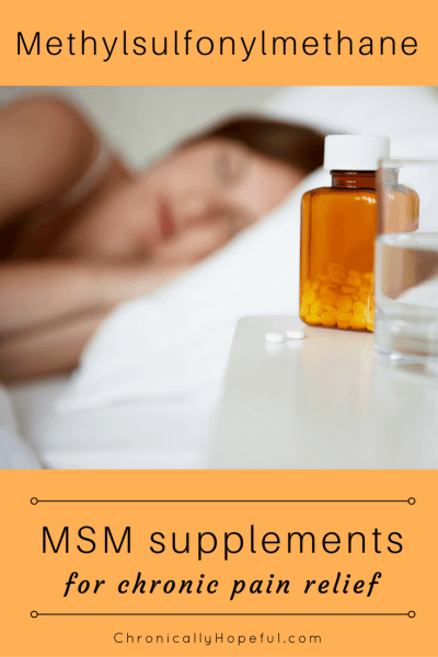 MSM for chronic pain relief