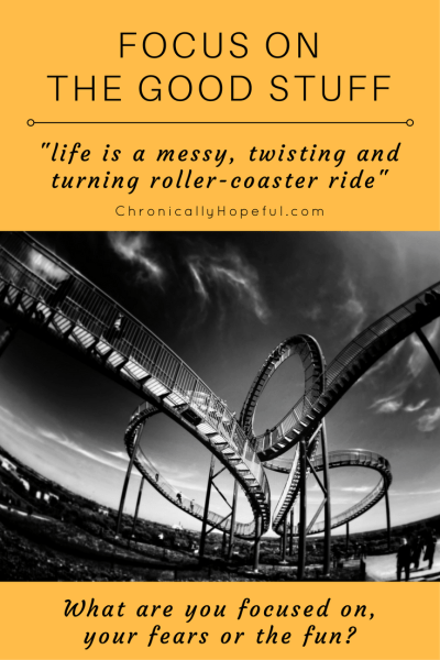 Life is a twisting roller-coaster ride