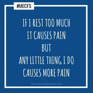 ME/CFS rest too much vs do too much