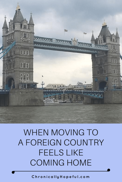 Moving to a foreign country feels like home