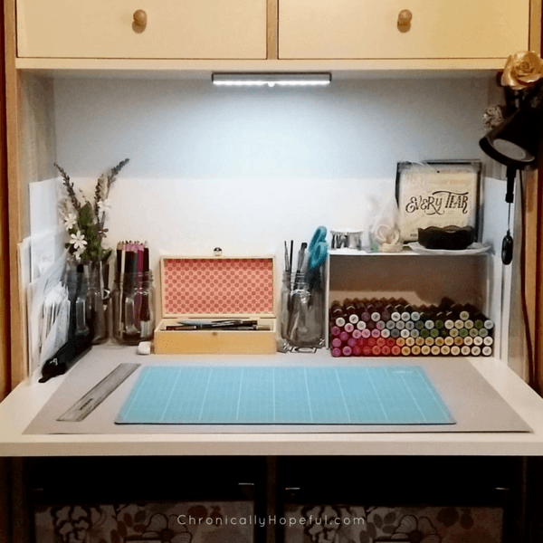 My tidy desk, focus on making art