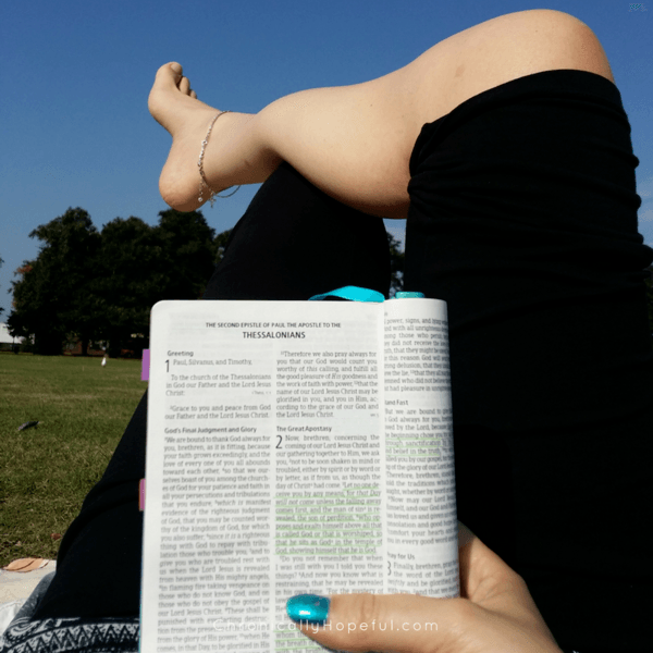 Lying in the park