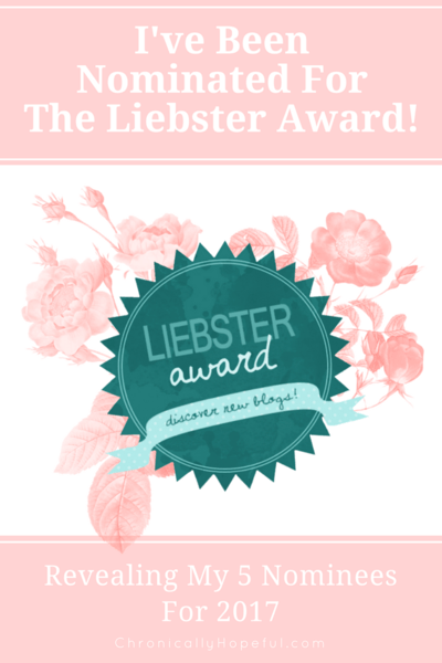 My First Liebster Award 2017