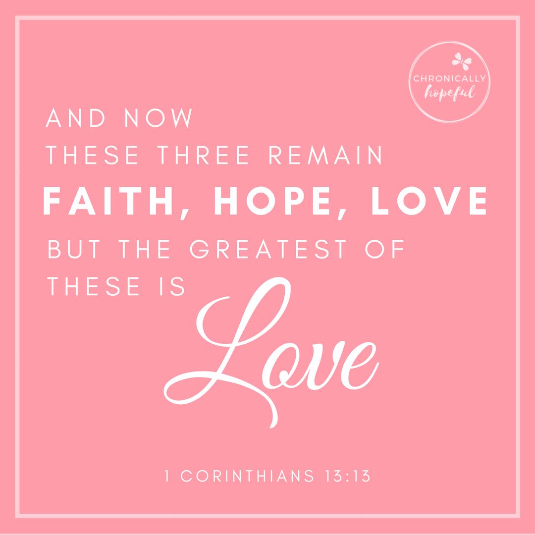 1 Cor 13v13 Faith Hope Love VERSE