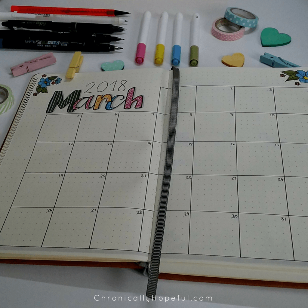 Monthly overview, March 2018 Journal Layout close