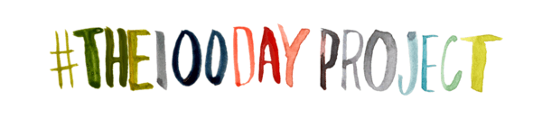The 100 Day Project hashtag logo