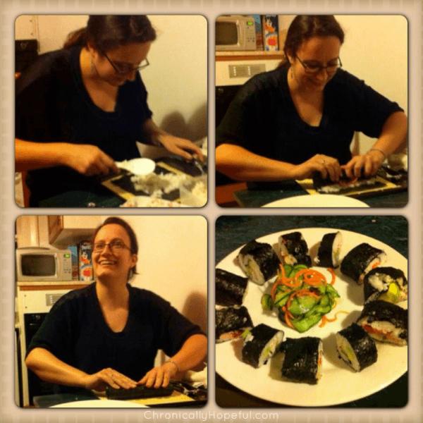 Learning to make sushi, Chronically Hopeful