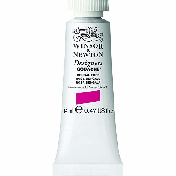 A tube of Winsor and Newton Gouache