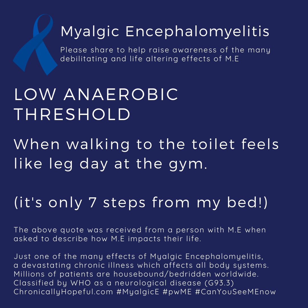 MyalgicE, When walking 7 steps to the toilet feels like leg day at the gym