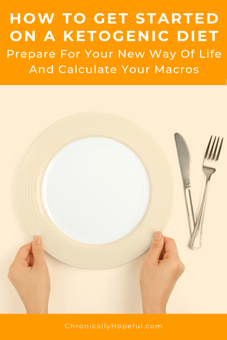 An empty plate with knife and fork. Title reads: How to get started on a ketogenic diet. Prepare for your new way of life and calculate your macros.
