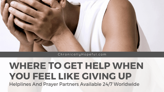 Do You Feel Like Giving Up? Where To Get Help When You Can't Cope