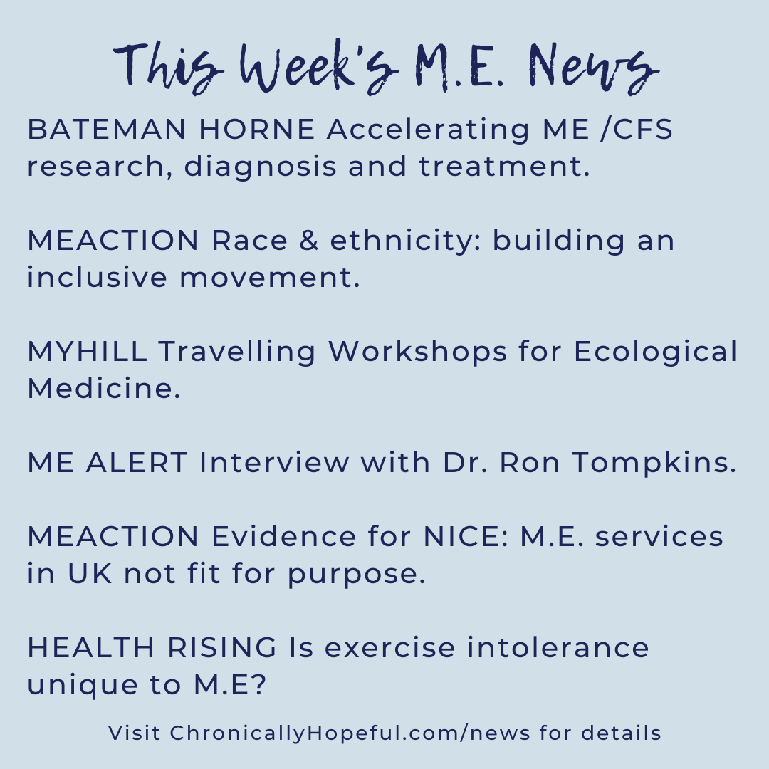 A list of this week's MEcfs news