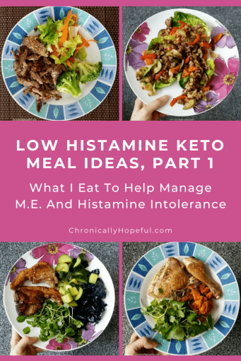Four plates of low histamine keto meals