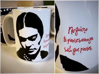 Frida Kahlo Hand painted mug from Sconnie Life on Etsy.