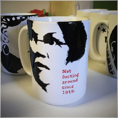 Elizabeth Warren Hand painted mug from Sconnie Life on Etsy.