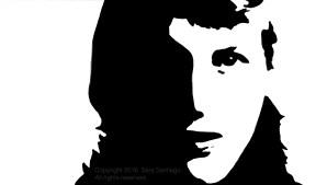 Sylvia Plath #BeBraveBrain Original painting by Sara Santiago