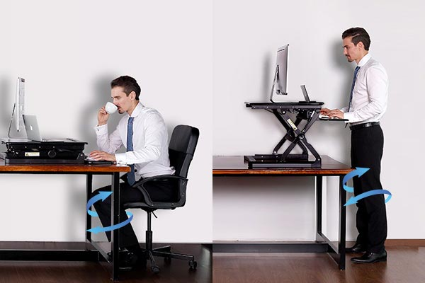 desk chair for sciatica pain retro leather and footstool how can sit-stand desks help with arthritis? | chronic body