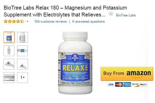 BioTree Labs Relax 180 Magnesium for Muscle Spasms