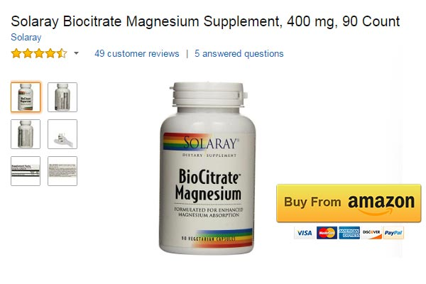 Solaray Biocitrate Magnesium Supplement for Muscle Spasms
