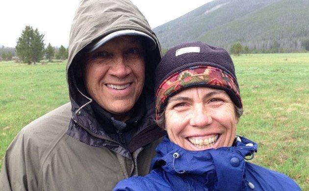 David and I rainy year wedding anniversary celebrations