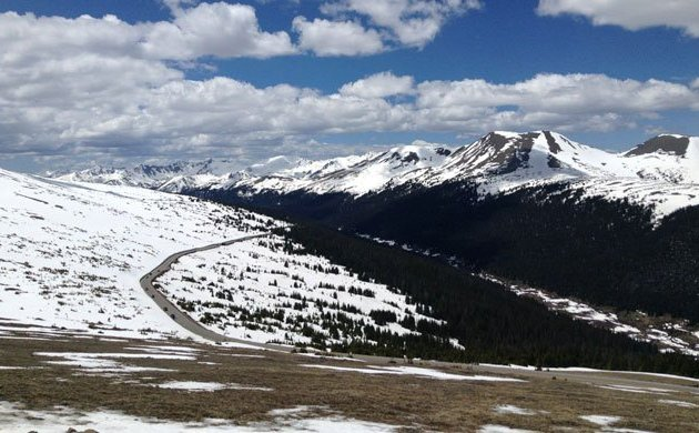 The continental divide and Trail Ridge Road in Rocky Mountain National Park, Colorado, part of our wedding anniversary celebrations