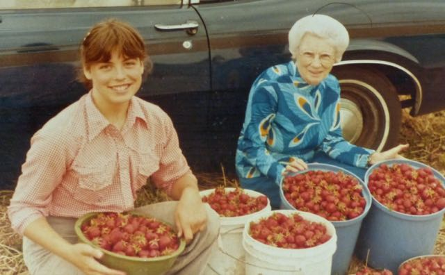 After learning to say no there was room to invite in the joy - like picking strawberries with my family as a child, and here with grandmama. #chronicillness #importanceofpleasure #healingthroughpleasure