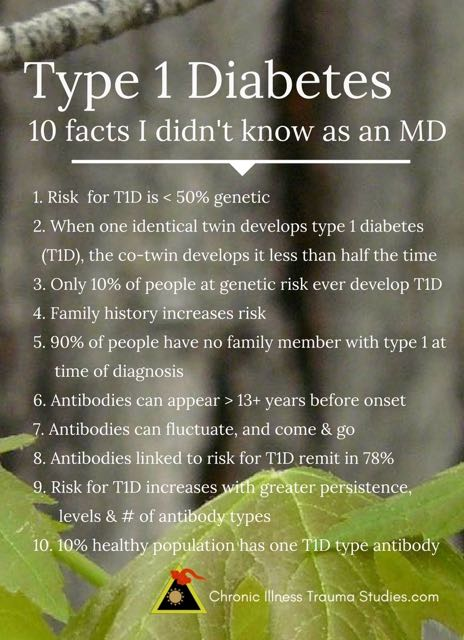 What causes type 1 diabetes? 10 facts about type 1 diabetes (T1D) I never knew as a physician, including gene environment interactions, antibody patterns, low family history and more