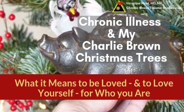 Chronic Illness Charlie Brown Christmas Tree #fibromyalga #asthma #IBD #RA #me/cfs #chronicfatigue #POTS #parkinson_CITS_Mead