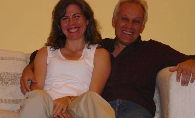 Finding love even when sick with a chronic illness (ME/CFS). David and Veronique in 2007
