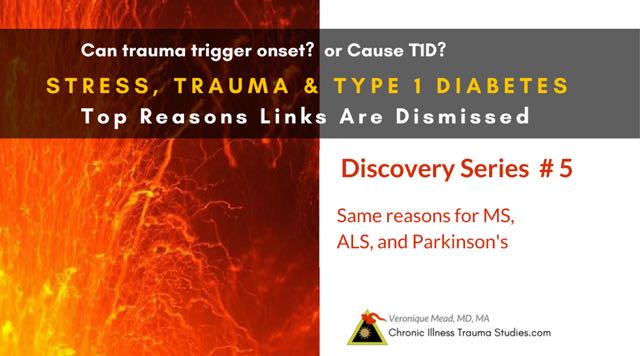 Stress, Trauma and Type 1 Diabetes: 5 reasons the links between adverse life events and risk for T1D are mistakenly dismissed #chronicillness #ME/CFS #MS #Parkinsons #ALS #disability