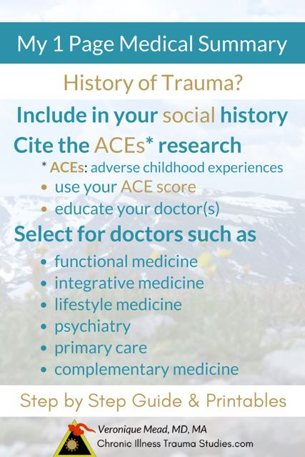 Create a 1 Page Medical History That Will Empower You and