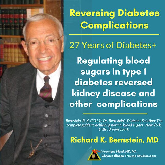 Reversing complications Type 2 diabetes and trauma Dr. Bernstein Mead CITS