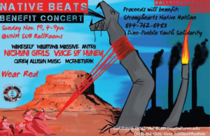 The Native Beats Benefit Concert event poster.