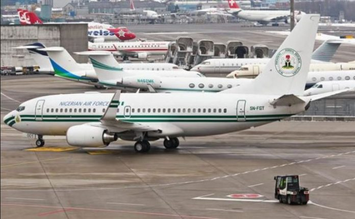 A Presidency plane handed over to the Nigerian Air Force