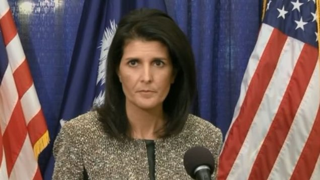 Nikki Haley, the U.S. envoy to the UN, attacks Russia