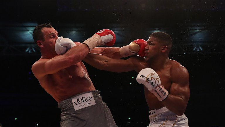 Anthony Joshua stopped Wladimir Klitschko in the 11th round at Wembley Stadium